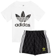 adidas Originals Shorts/T-shirt - White/Gray