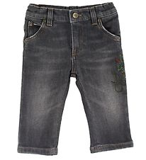 Dolce & Gabbana Jeans - Anthracite w. Embroidery