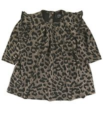 Petit by Sofie Schnoor Dress - Maize - Black/Sliver Leopard