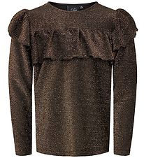 Petit by Sofie Schnoor Blouse - Cleo - Brown w. Glitter