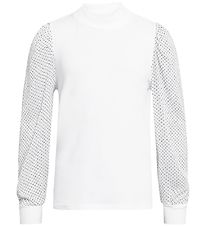 Grunt Long Sleeve Top - Lilli - White w. Organza