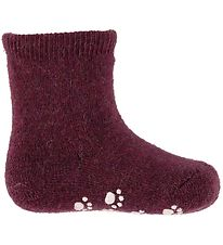 Joha Socks - Wool - Purple w. Anti-slip
