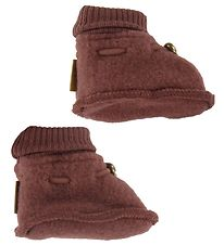 Mikk-Line Booties - Wool - Madder Brown