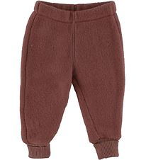 Mikk-Line Trousers - Wool - Madder Brown