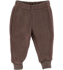 Mikk-Line Trousers - Wool - Puce Brown