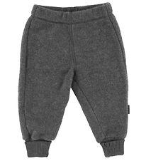 Mikk-Line Trousers - Wool - Anthracite Grey