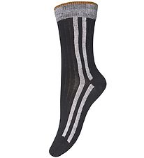 MP Socks - Black/Grey w. Stripes