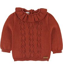 Condor Blouse - Wool/Acrylic - Brick Red