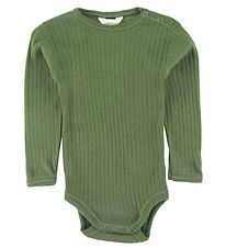 Joha Bodysuit l/s - Wool - Green