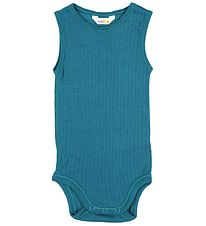 Joha Bodysuit Sleeveless - Wool - Blue