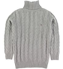 GANT Long Sleeve Top - Knit - Grey