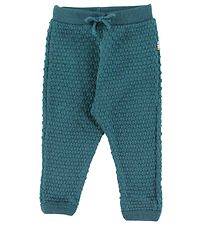 Joha Trousers - Wool - Petroleum