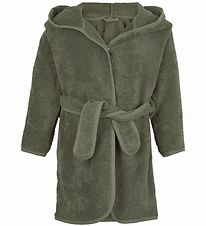 Pippi Bathrobe - Deep Lichen Green w. Dragon