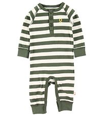 Katvig Jumpsuit - Army Green w. Stripes
