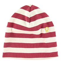Katvig Hat - Double Layer - Red w. Stripes