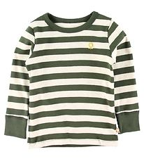 Katvig Long Sleeve Top - Army Green w. Stripes