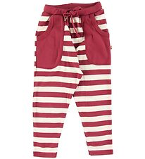Katvig Trousers - Red w. Stripes