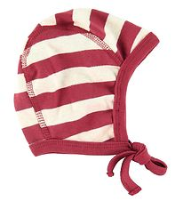 Katvig Baby Hat - Red w. Stripes