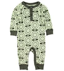 Katvig Jumpsuit - Wool - Grön w. Apples