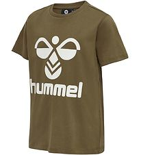 Hummel T-shirt - hmlTres - Military Olive