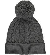 Color Kids Hat - Knitted - Charcoal Melange