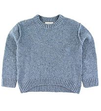 Stella McCartney Kids Knitted Blouse - Wool - Donegal - Petrol