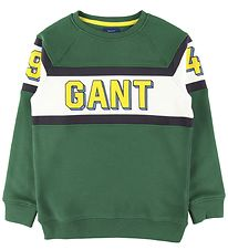 GANT Sweatshirt - Varsity - Ivy Green w. White/Yellow