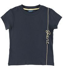 GANT T-shirt - Script - Evening Blue