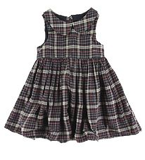 Wheat Dress - Eila - Midnight Blue w. Checks