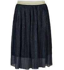 The New Tulle Skirt - Sybil Pleat - Navy Blazer w. Dots