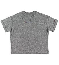 Champion Fashion T-Shirt - Grey Melange w. Logo