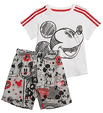 adidas Performance T-shirt/Shorts - White/Grey w. Mickey Mouse