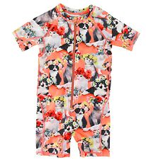 Molo Coverall Swimsuit - Neka - Flower Power Cats