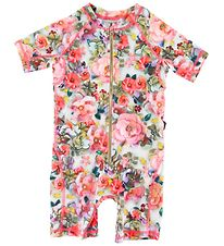 Molo Coverall Swimsuit - Neka - Sequins Flowers