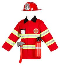 Souza Costume - Firefighter - Red