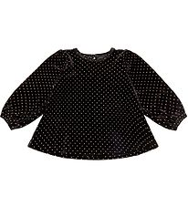 Petit by Sofie Schnoor Blouse - Velour - Adrianne - Black w. Dot