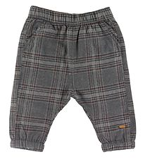 Hust and Claire X-Mas Trousers - Tue - Grey w. Checkers