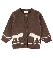 Hust and Claire X-Mas Cardigan - Knit - Charli - Brown w. Elk