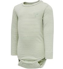 Hummel Bodysuit l/s - HmlLoui - Green Stripes