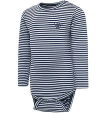 Hummel Bodysuit l/s - HmlLoui - Blue/Navy Stripes