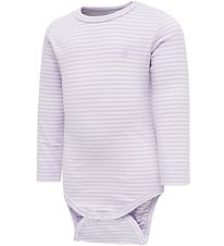 Hummel Bodysuit l/s - HmlLoui - Purple Stripes