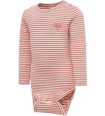 Hummel Bodysuitsuit l/s - HmlLoui - Red Stripes