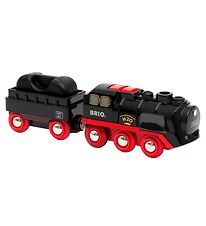 BRIO World Train - 3 Parts - Battery-Operated Steaming Train