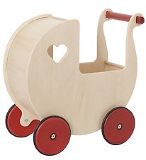 Moover Dolls Stroller - Wood w. Red Wheels