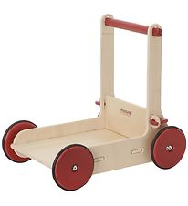Moover Baby Walker - Wood w. Red Wheels