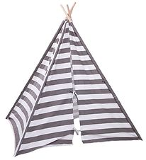 Childhome Tipi Tent - Grey/White Striped