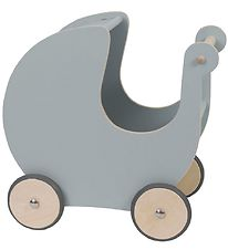 Sebra Doll Stroller - Wood - Grey