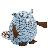 Bloomingville Soft Toy - Beaver - Light Blue w. Dots