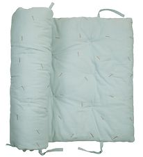 Fabelab Play Mat - Cat - Quilted - Mint w. Streaks