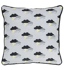 Bloomingville Cushion - 40x40 - Grey w. Thunder Clouds